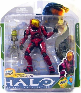 Halo 3 McFarlane Toys Series 5 [2009 Wave 2] Exclusive Action Figure CRIMSON Spartan Soldier EVA