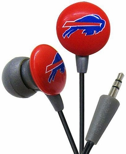 iHip NFL Football Sports Earphones  Buffalo Bills Logo Earbuds