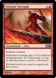 Magic the Gathering Magic 2011 (M11) Single Card Common #158 Volcanic Strength