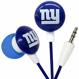 iHip NFL Football Sports Earphones New York Giants Logo Earbuds