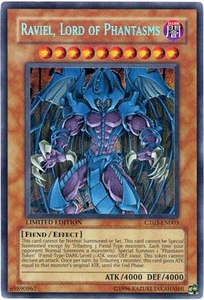 YuGiOh 2006 Collectible Tin Promo Single Card Secret Rare CT03-EN003 Raviel, Lord of Phantasms