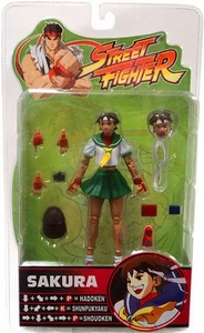 Sota Toys Street Fighter Series 3 Action Figures Sakura [Green Skirt Variant]