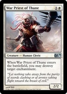Magic the Gathering Magic 2011 (M11) Single Card Uncommon #38 War Priest of Thune