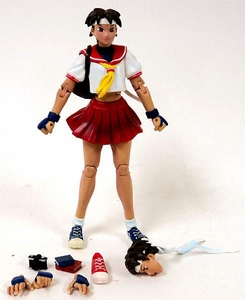 Sota Toys Street Fighter Action Figure LOOSE Sakura Red Skirt Variant