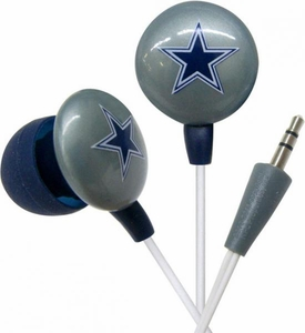 iHip NFL Football Sports Earphones Dallas Cowboys Logo Earbuds