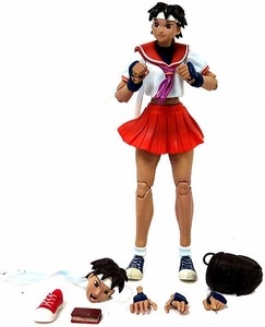 Sota Toys Street Fighter Action Figure LOOSE Sakura Orange Skirt Variant