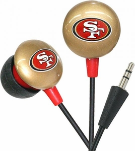 iHip NFL Football Sports Earphones San Francisco 49ers Logo Earbuds