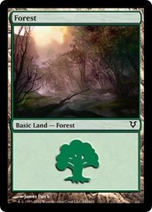 Magic the Gathering Avacyn Restored Single Card Land Land #242 Forest