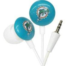 iHip NFL Football Sports Earphones Miami Dolphins LOGO Earbuds