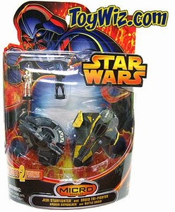 Star Wars Exclusive Micro Vehicles Jedi Star fighter and Droid Tri-fighter