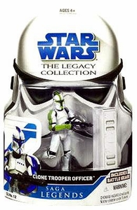Star Wars 2008 Legacy Collection Saga Legends Action Figure SL No. 12 Clone Trooper Officer  [Green]