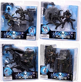 McFarlane Toys AVP Alien VS. Predator Movie Series 2 Set of 4 Action Figures