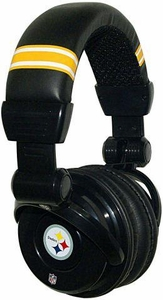 iHip NFL Football Sports Pro DJ Pittsburgh Steelers LOGO Headphones
