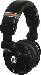 iHip NFL Football Sports Pro DJ Miami Dolphins LOGO Headphones