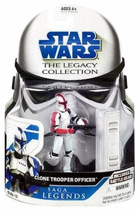 Star Wars 2008 Legacy Collection Saga Legends Action Figure SL No. 12 Clone Trooper Officer [Red]