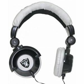 iHip NFL Football DJ Quality Oakland Raiders LOGO Headphones