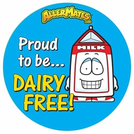 Dairy-Free Alert Stickers 24 Pack