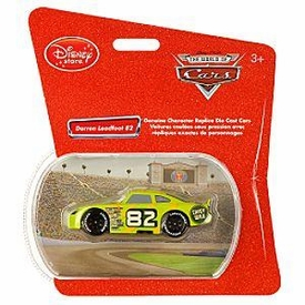 Disney Pixar CARS Exclusive 1:48 Die Cast Car Darren Leadfoodt #82 [Shiny Wax]