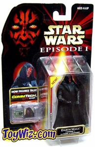 Star Wars Phantom Menace Darth Maul (Tatooine) w/ Cloak and Lightsaber