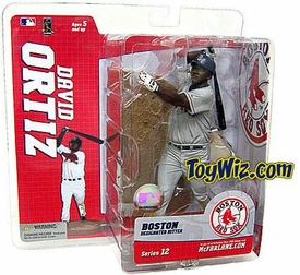 McFarlane Toys MLB Sports Picks Series 12 Action Figure David Ortiz (Boston Red Sox) Gray Jersey Variant