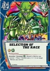 Dragonball Bandai Warriors Return Single Card Rare EV-019 Selection of the Race