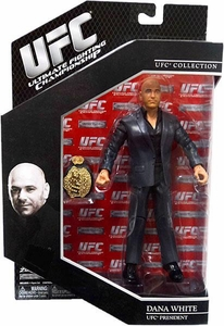 UFC Jakks Pacific Series 9 Deluxe Action Figure Dana White [Includes Championship Belt!] Only 5,000 Made!