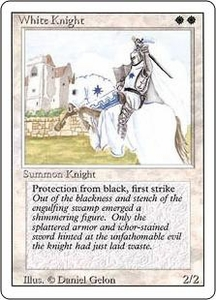 Magic the Gathering Revised Edition Single Card Uncommon White Knight Played Condition Not Mint