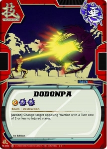 Dragonball Bandai Warriors Return Single Card Rare TE-010 Dodonpa