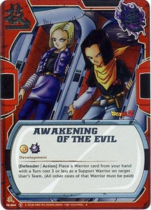 Dragon Ball Bandai Warriors Return Single Card Promo Foil TE-014 Awakening of the Evil