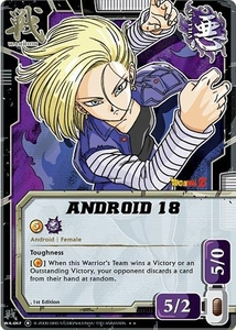 Dragonball Bandai Warriors Return Single Card Rare WA-017 Android 18