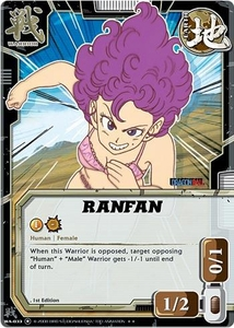 Dragonball Bandai Warriors Return Single Card Rare WA-033 Ranfan