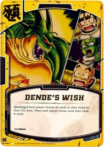 Dragonball Bandai Warriors Return Single Card Gold Foil Super Rare WI-005 Dende's Wish