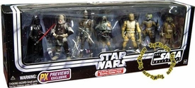 Star Wars Original Trilogy Exclusive Action Figure 7-Pack Bounty Hunter Pack [Darth Vader, Dengar, IG-88, Boba Fett, Bossk, 4-LOM & Zuckuss]