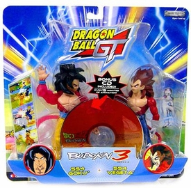 Dragon Ball GT Budokai Battles Action Figure 2-Pack SS4 Goku vs. SS4 Vegeta