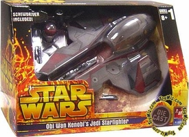 Star Wars Die Cast Model Kit Obi Wan Kenobi's Jedi Starfighter