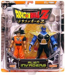 Dragon Ball Z Alien Invaders Action Figure 2-Pack Goku Vs. Burter [Orange Package]