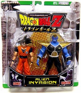 Dragonball Z Alien Invasion Action Figure 2-Pack Goku Vs. Burter [Green Package]