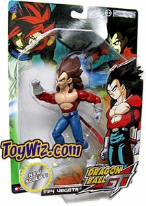 Dragonball GT Series 4 Action Figure Super Saiyan 4 Vegeta Damaged Package, Mint Contents!