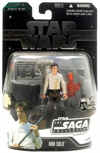 Star Wars Saga 2006 Basic Action Figure Han Solo Carbonite (Ultimate Galactic Hunt)