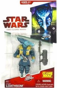 Star Wars 2009 Clone Wars Animated Action Figure CW No. 15 General Whorm Loathsom