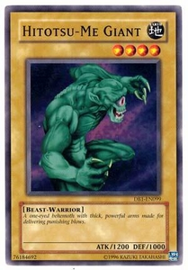YuGiOh Legend of Blue Eyes White Dragon Single Card Common LOB-002 Hitotsu-Me Giant