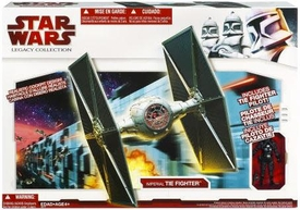 Star Wars 2009 Legacy Collection Exclusive Vehicle Imperial TIE Fighter