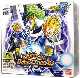 Dragonball Kai Miracle Battle Carddass Collectible Card Game New War Booster Box [20 Packs]