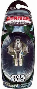 Star Wars Titanium Series Diecast Mini Anakin's Mustafar Jedi Starfighter (Green) BLOWOUT SALE!