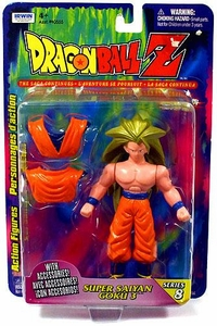 Dragon Ball Z Irwin Series 8 Action Figure Super Saiyan 3 Goku with Removable Gi Top