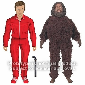 Bif Bang Pow! 6 Million Dollar Man Set of Both Action Figures Steve Austin & Bigfoot