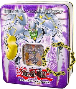 YuGiOh GX 2006 Wave 2 Collector Tin Set Elemental Hero Shining Flare Wingman