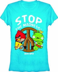 Angry Birds Women's Printed T-Shirt Stop the Madness