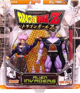 Dragonball Z Alien Invaders Action Figure 2-Pack Trunks Vs. King Cold [Orange Package]