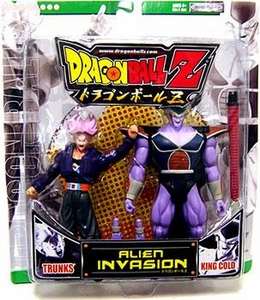 Dragon Ball Z Alien Invasion Action Figure 2-Pack Trunks Vs. King Cold [Green Package]